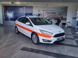 Zabudowa specjalistyczna dla nadzoru ruchu Ford Focus Limousine