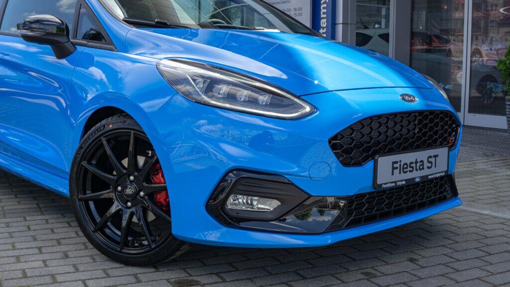 Ford Fiesta ST Edition przód Azure Blue